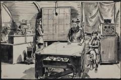 Control Room. Senior Commander Elwes